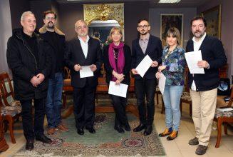 Отляво надясно: Агим Сопи, Агон Мифтари, Мариус Донкин, Адриана Попеску, Йерней Пристов, Нина Николич, Хервин Чули